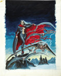 Original Comic Art:Covers, Earl Norem Marvel Preview #12, Lilith Cover Painting Original Art (Marvel, 1977)....