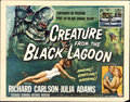"Movie Posters:Horror, Creature from the Black Lagoon (Universal International, 1954).Half Sheet (22"" X 28"") Style A...."