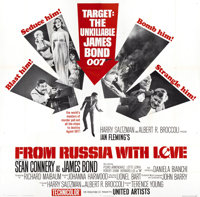 """From Russia with Love (United Artists, 1964). Six Sheet (81"""" X 81"""")"""