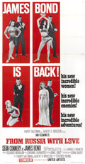 "Movie Posters:James Bond, From Russia with Love (United Artists, 1964). Three Sheet (41"" X81"") Style B...."