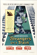 "Movie Posters:Hitchcock, Strangers on a Train (Warner Brothers, 1951). One Sheet (27"" X41"")...."