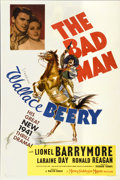 "Movie Posters:Western, The Bad Man (MGM, 1941). One Sheet (27"" X 41"") Style D...."