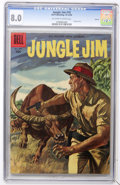 Silver Age (1956-1969):Adventure, Jungle Jim #10 Circle 8 pedigree (Dell, 1956) CGC VF 8.0 Off-white to white pages....