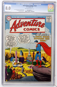 Adventure Comics #232 (DC, 1957) CGC VF 8.0 Off-white to white pages