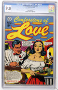 Golden Age (1938-1955):Romance, Confessions of Love #12 (Star Publications, 1952) CGC VF/NM 9.0Off-white to white pages....