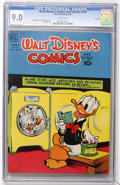 Golden Age (1938-1955):Cartoon Character, Walt Disney's Comics and Stories #105 File Copy (Dell, 1949) CGCVF/NM 9.0 White pages....