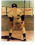 "Autographs:Photos, Mickey Mantle signed 8""x 10"" photo hands on knees. ..."