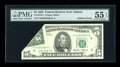 Error Notes:Foldovers, Fr. 1978-F $5 1985 Federal Reserve Note. PMG About Uncirculated 55EPQ....