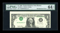 Error Notes:Inverted Third Printings, Fr. 1922-A $1 1995 Federal Reserve Note. PMG Choice Uncirculated 64EPQ.. ...