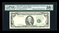 Error Notes:Obstruction Errors, Fr. 2173-L $100 1990 Federal Reserve Note. PMG Choice About Unc 58EPQ...