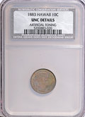 Coins of Hawaii: , 1883 10C Hawaii Ten Cents--Artificially Toned--NCS. Unc Details.NGC Census: (0/100). PCGS Population (5/119). Mintage: 250...