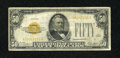 Small Size:Gold Certificates, Fr. 2404 $50 1928 Gold Certificate. Very Good-Fine.. ...