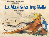 """The Bride is Much too Beautiful (Pathe Consurtium Cinema, 1956). French Poster (94"""" X 167"""")"""