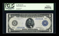 Large Size:Federal Reserve Notes, Fr. 880 $5 1914 Federal Reserve Note PCGS Gem New 66PPQ....