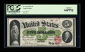 Large Size:Legal Tender Notes, Fr. 61a $5 1862 Legal Tender PCGS Gem New 66PPQ....