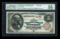 National Bank Notes:Pennsylvania, Sewickley, PA - $5 1882 Brown Back Fr. 471 The First NB Ch. # 4462. ...