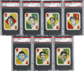 Baseball Cards:Lots, 1951 Topps Blue Backs Baseball PSA-Graded Collection (7). Collection of PSA-graded 1951 Topps cards includes EX-MT 6: #3... (Total: 7 cards)
