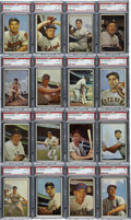 Baseball Cards:Lots, 1953 Bowman Color PSA-Graded Group Lot of 16. Group of sixteenPSA-graded cards, all from the 1953 Bowman Color issue. P...(Total: 16 cards)