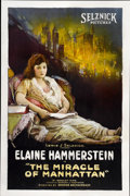 "Movie Posters:Drama, The Miracle of Manhattan (Selznick, 1921). One Sheet (27"" X41"")...."