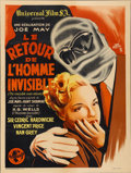 "Movie Posters:Horror, The Invisible Man Returns (Universal, 1947). First Post-War FrenchPetite Release (23.5"" X 31.5"")...."