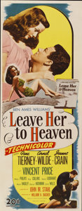 """Movie Posters:Film Noir, Leave Her to Heaven (20th Century Fox, 1945). Insert (14"""" X36"""")...."""