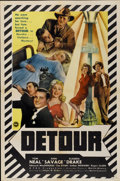 "Movie Posters:Film Noir, Detour (PRC, 1945). One Sheet (27"" X 41"")...."