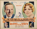 "Movie Posters:Comedy, Taming of the Shrew (United Artists, 1929). Half Sheet (22"" X28"")...."