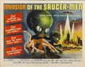 "Movie Posters:Science Fiction, Invasion of the Saucer-men (American International, 1957). HalfSheet (22"" X 28"")...."