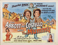 "Movie Posters:Comedy, Abbott and Costello Meet the Mummy (Universal International, 1955).Half Sheet (22"" X 28"") Style B...."