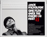 "One Flew Over the Cuckoo's Nest (United Artists, 1975). Half Sheet (22"" X 28"")"