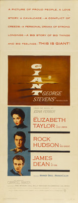 """Giant (Warner Brothers, 1956). Insert (14"""" X 36"""")"""