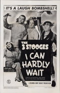 "Movie Posters:Comedy, The Three Stooges in ""I Can Hardly Wait"" (Columbia, 1943). OneSheet (27"" X 41"")...."