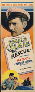 "Movie Posters:Adventure, The Rescue (United Artists, 1929). Insert (14"" X 36"")...."