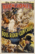 "Movie Posters:Western, The Boss Rider of Gun Creek (Universal, 1936). One Sheet (27"" X 41"")...."