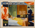 "Movie Posters:Crime, The Maltese Falcon (Warner Brothers, 1931). Lobby Card (11"" X14"")...."