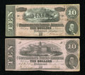 Confederate Notes:1862 Issues, Two Confederate $10s.. ...
