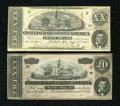 Confederate Notes:1863 Issues, Two Confederate $20s.. ... (Total: 2 notes)
