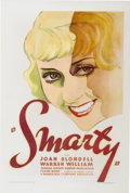 "Movie Posters:Comedy, Smarty (Warner Brothers, 1934). One Sheet (27"" X 41"")...."