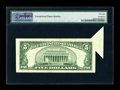 Error Notes:Foldovers, Fr. 1655 $5 1953 Silver Certificate. PMG Choice About Unc 58 EPQ.. ...