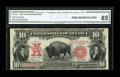 Large Size:Legal Tender Notes, Fr. 122 $10 1901 Legal Tender CGA Gem Uncirculated 65....