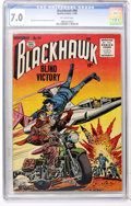 Golden Age (1938-1955):War, Blackhawk #94 (Quality, 1955) CGC FN/VF 7.0 Off-white pages....