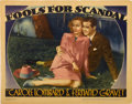 """Movie Posters:Comedy, Fools for Scandal (Warner Brothers, 1938) & We're Not Dressing(Paramount, 1934) Lobby Cards (2) (11"""" X 14""""). ... (Total: 2 Items)"""