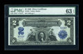 Large Size:Silver Certificates, Fr. 256 $2 1899 Silver Certificate PMG Choice Uncirculated 63 EPQ....