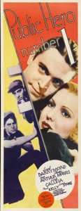 "Movie Posters:Crime, Public Hero #1 (MGM, 1935). Insert (14"" X 36"")...."