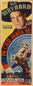 "Movie Posters:Western, In Old Santa Fe (Mascot, 1934). Insert (14"" X 36""). Autographed...."