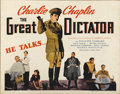 "Movie Posters:Comedy, The Great Dictator (United Artists, 1940). Half Sheet (22"" X28"")...."