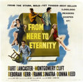 "Movie Posters:Academy Award Winner, From Here to Eternity (Columbia, 1953). Six Sheet (81"" X 81"")...."