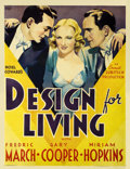 "Movie Posters:Comedy, Design for Living (Paramount, 1933). Two Sheet (41"" X 54"")...."