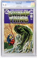 Bronze Age (1970-1979):Horror, Swamp Thing #1 (DC, 1972) CGC NM- 9.2 Off-white to white pages....