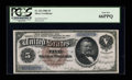 Large Size:Silver Certificates, Fr. 263 $5 1886 Silver Certificate PCGS Gem New 66PPQ....